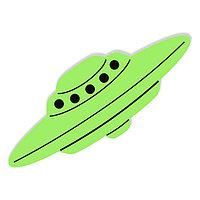 """Наклейка светящаяся """"НЛО-1, летающая тарелка"""" 9 см"""