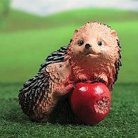 """Садовая фигура """"Ёжики с яблоком"""", 14 см х 14 см"""