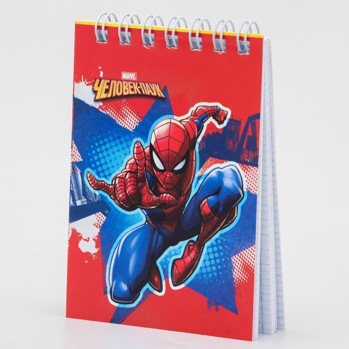 Блокнот А7 32 л на гребне Человек-паук Супергерой 4995522