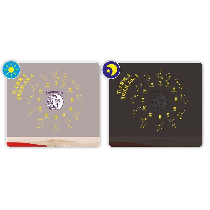 Наклейка интерьерная светится в темноте «Тайна зодиака», 29.7 × 42 см - фото 2