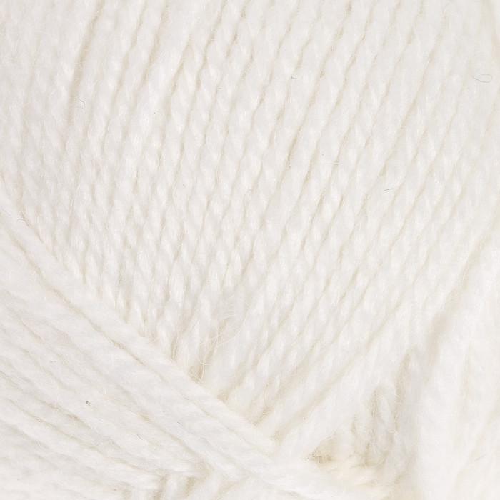 """Пряжа """"Бамбино"""" 35% шерсть меринос, 65% акрил 150м/50гр (205, белый) - фото 1"""