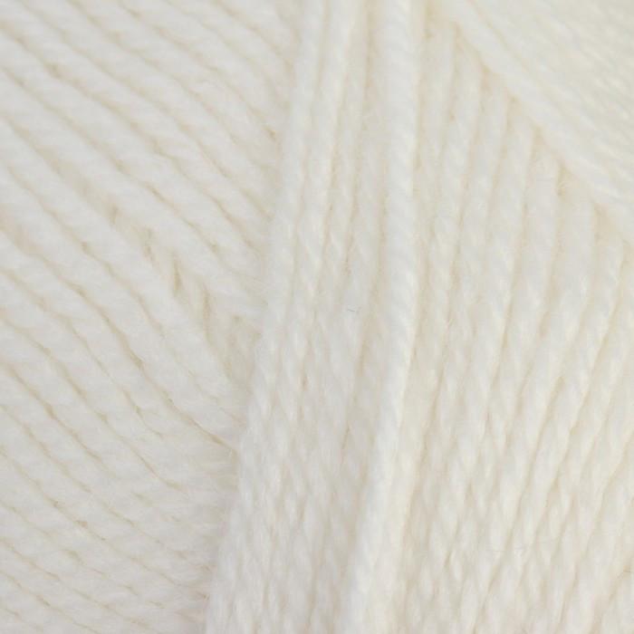 """Пряжа """"Бамбино"""" 35% шерсть меринос, 65% акрил 150м/50гр (205, белый) - фото 4"""