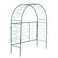 Арка садовая, разборная, 180 × 150 × 50 см, металл, зелёная, «Беседка», фото 1
