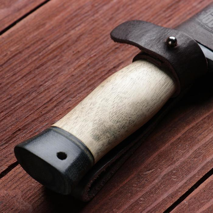 Нож охотничий «Командор» Н20, ст. ЭИ-107, рукоять текстолит, орех, 24,5 см - фото 5