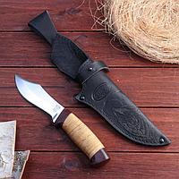 Нож охотничий «Шериф» Н68, ст. ЭИ-107, рукоять текстолит, береста, 23,5 см