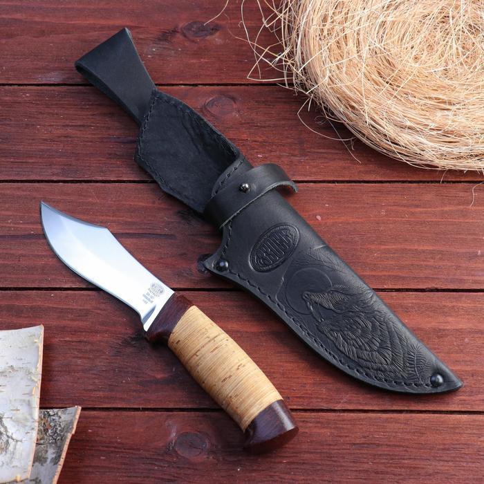 Нож охотничий «Шериф» Н68, ст. ЭИ-107, рукоять текстолит, береста, 23,5 см - фото 1