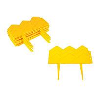 Ограждение декоративное, 14 × 310 см, 13 секций, пластик, жёлтое, «Домиком»