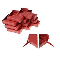 Ограждение декоративное, 13 × 300 см, 24 секции, пластик, терракотовое, «Кирпич»