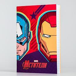 Блокнот А6 32л на скрепке Мстители Супергерои 5194395