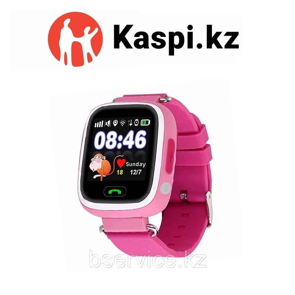 Детские GPS часы Q90 розовые
