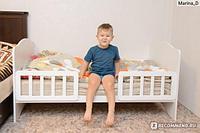 """Кровать детская Babystep """"Классика"""", (белый), с 1 года до 6 лет"""