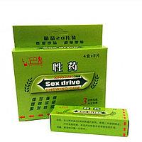 Возбуждающая жевательная резинка для женщин  SEX DRIVE GUM CHEWING  ( Упаковка: 4 коробочки по 5 пластинок )