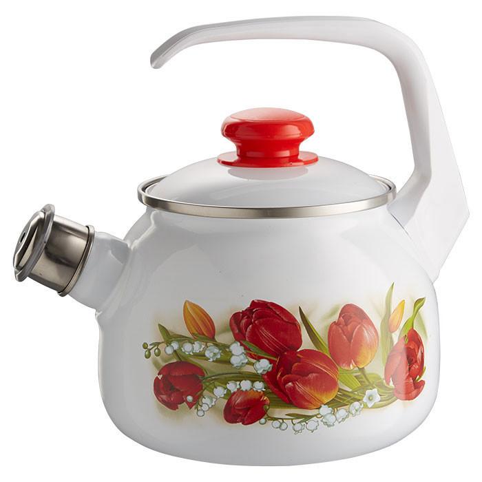 """Чайник эмалированный со свистком """"Ласковый май"""" 2,5 литра"""