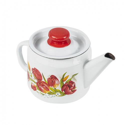 """Чайник эмалированный """"Ласковый май"""" 1 литр"""