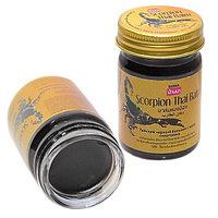 Тайский черный бальзам с ядом скорпиона Banna Scorpion Thai black Balm, 50 мл.