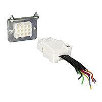 Разъем на 9 проводов (2 части)(NSX100/250)