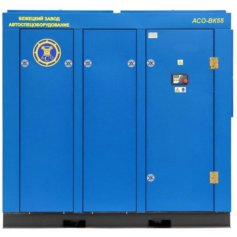 Винтовой компрессор с частотным приводом АСО ВК 55-10 ESQ