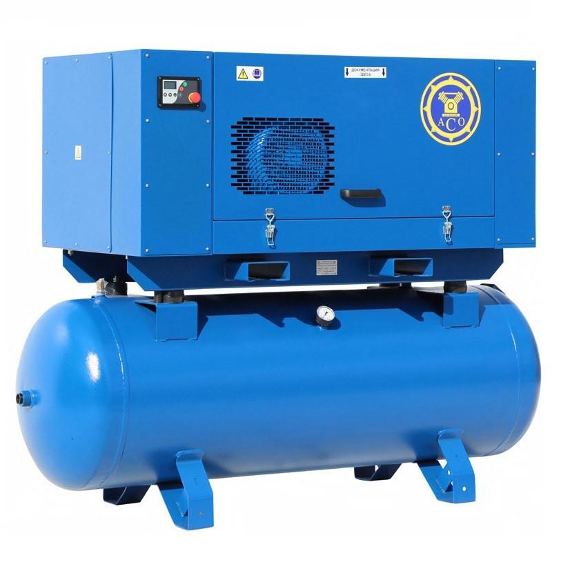 Винтовой компрессор на ресивере АСО ВК 18-16-500