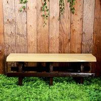 Скамья садовая, пластиковая 120 х 40 х 42 см, без спинки, беж.-корич