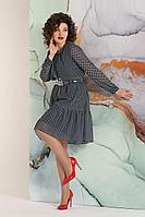 Женское осеннее шифоновое синее большого размера платье Avanti Erika 1170-4 46р.