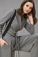 Женский осенний серый деловой жакет LaVeLa L30063 серый 42р.