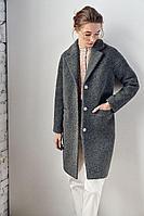 Женское осеннее драповое серое пальто Colors of PAPAYA 1156А 42р.