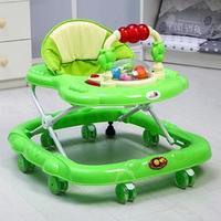 Ходунки 'Маленькие друзья', 8 силик. колес, муз., свет, игрушки, зеленый