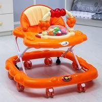 Ходунки 'Маленькие друзья', 8 силик. колес, муз., свет, игрушки, оранжевый