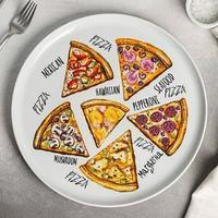 Блюдо для пиццы Добрушский фарфоровый завод 'Пицца', d30 см, МИКС