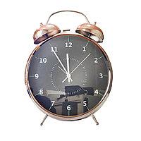 Часы-будильник металл. FD-2106 черные
