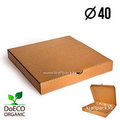 Коробка для пиццы Бурая 400*400*45 (ECO PIZZA 400 STANDART) Eco+ (50шт/уп)