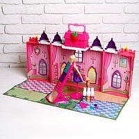 Замок для кукол «Сказка» с куклой шарнирной и аксессуарами для создания причёски