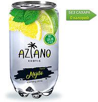 AZIANO  Mojito Мохито 350 ml. /Прозрачная Банка/ (24шт-упак)
