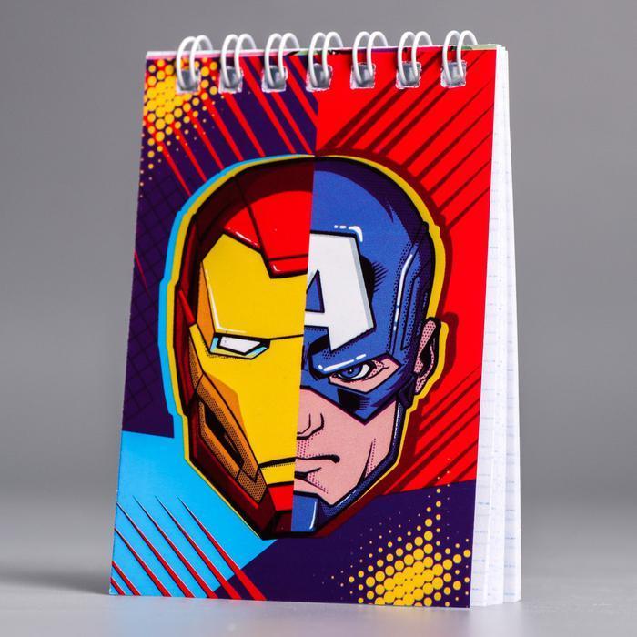 """Блокнот А7, 32 листа на гребне """"Мстители. Супергерои"""""""