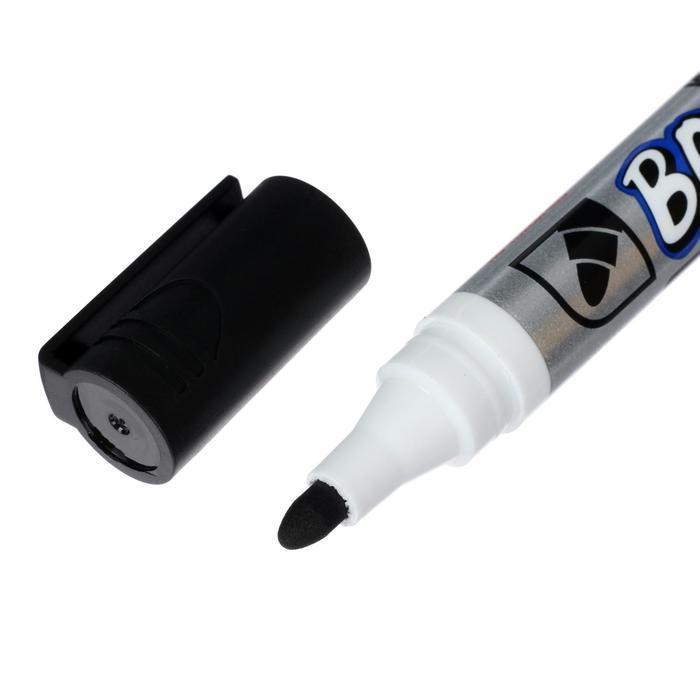 Маркер для доски 3.0 мм Crown Multi Board CBM-1000 черный - фото 4
