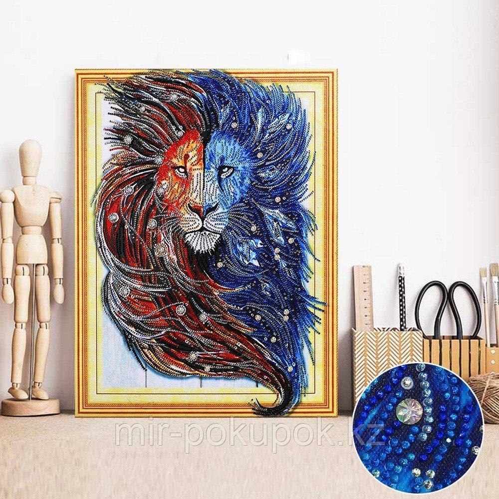 """Алмазная картина """"Царь зверей"""" 7Д 40*50 см"""