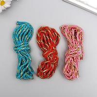 Набор декоративных плетёных шнуров, 3 шт, 1 м