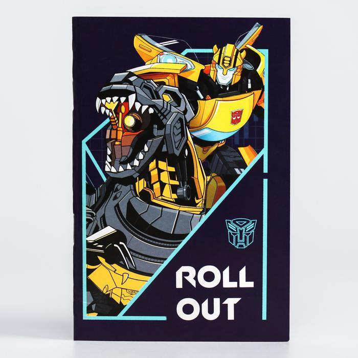 Блокнот А6, 32 листа на скрепке, «Трансформеры», Transformers