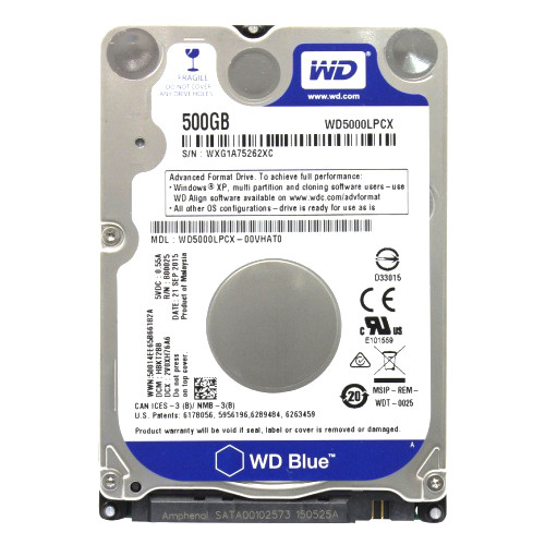 "Жесткий диск HDD 500 GB 2.5"""