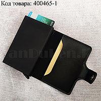 Картхолдер держатель для карт и визиток с RFID защитой экокожа KH-325 черный