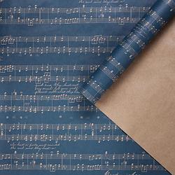 Бумага упаковочная крафтовая «Ноты», 70 × 100 см   4681764