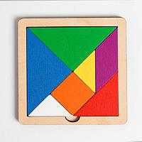 Игра головоломка деревянная «Танграм» (цв, мал)