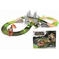 Трек. Гибкая трасса с динозаврами. Dinosaur Tracks.