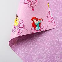 Бумага упаковочная глянцевая двусторонняя , Принцессы, 60x90 см 5414223