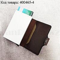 Картхолдер держатель для карт и визиток с RFID защитой экокожа KH-325 темно-коричневый