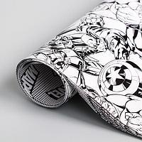 Бумага упаковочная глянцевая двусторонняя, Мстители, 60x90 см 5414309