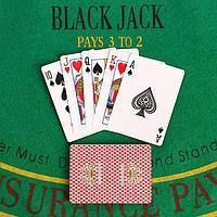 Карты для покера бумажные, 54 шт, 290 гр/м2, 8.8х6.3 см, микс