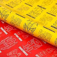 Бумага упаковочная глянцевая двусторонняя, Трансформеры, 60x90 см 5414324