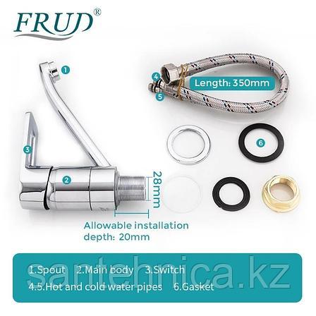 Смеситель для раковины Frud R45104 хром, фото 2