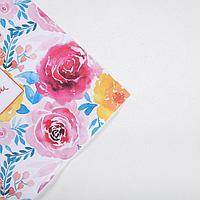 Бумага крафтовая Flowers, 70 × 100 см